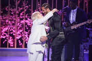 """Teresa Kaepernick and Colin Kaepernick speaks onstage during VH1's 3rd Annual """"Dear Mama: A Love Letter To Moms"""" - Inside Show  at The Theatre at Ace Hotel on May 3, 2018 in Los Angeles, California."""
