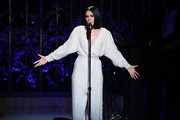 "Music artist Jessie J performs onstage during VH1's 3rd Annual ""Dear Mama: A Love Letter To Moms"" - Inside Show  at The Theatre at Ace Hotel on May 3, 2018 in Los Angeles, California."