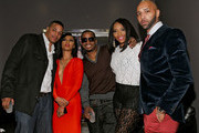Rich Dollaz, Tara Wallace, Saigon, Yandy Smith, and Joe Budden appear at the VH1 'Love & Hip Hop' Season 4 Premiere at Stage 48 on October 28, 2013 in New York City.