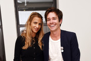 """Charlotte Ronson and Nate Ruess pose during VH1 Save The Music Foundation """"Musically Mastered Menu Event"""" on November 12, 2015 in New York City."""