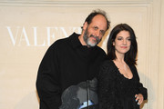 (L-R) Luca Guadagnino and Esther Garrel attend the Valentino Haute Couture Spring Summer 2019 show as part of Paris Fashion Week on January 23, 2019 in Paris, France.