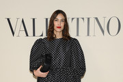 (EDITORIAL USE ONLY) Alexa Chung attends the Valentino show as part of the Paris Fashion Week Womenswear Fall/Winter 2020/2021 on March 01, 2020 in Paris, France.