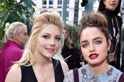 Katheryn Winnick and Matilde Gioli attend the Valentino show as part of the Paris Fashion Week Womenswear Fall/Winter 2017/2018 on March 5, 2017 in Paris, France.