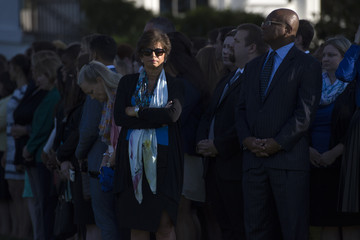 Valerie Jarrett President Obama, First Lady Hold Moment of Silence on Anniversary of 9/11 Attacks
