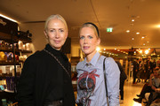 (L-R) Christiane Arp and Tamara von Nayhauss attend the Van Laack Meisterwerk by Wolfgang Joop Fall/Winter 2020 show during Berlin Fashion Week Autumn/Winter 2020 at KaDeWe on January 14, 2020 in Berlin, Germany.