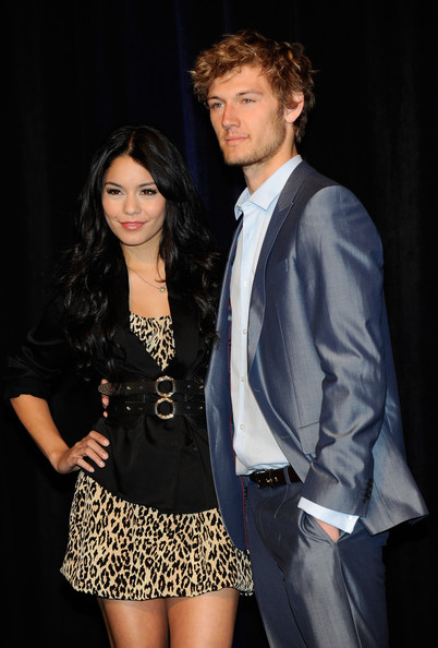 Actress Vanessa Hudgens (L) and actor Alex Pettyfer arrive at the CBS Films
