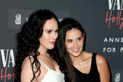 (L-R) Rumer Willis and Demi Moore as Vanity Fair And Annenberg Space For Photography Celebrate The Opening Of Vanity Fair: Hollywood Calling, Sponsored By The Ritz-Carlton at Annenberg Space For Photography on February 04, 2020 in Century City, California.