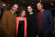 (L-R) Luca Guadagnino, Robin Urdang, Timothee Chalamet, and Armie Hammer attend the Vanity Fair and Barneys New York celebration of Sony Pictures Classics' 'Call Me By Your Name' on February 28, 2018 in Los Angeles, California.