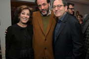 (L-R) Peggy Siegal, Luca Guadagnino, and Sony Pictures Classics Co-President and Co-Founder Michael Barker attend the Vanity Fair and Barneys New York celebration of Sony Pictures Classics' 'Call Me By Your Name' on February 28, 2018 in Los Angeles, California.