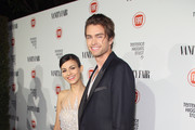 Actress Victoria Justice and Pierson Fode attend Vanity Fair and FIAT celebration of Young Hollywood, hosted by Krista Smith and James Corden, to benefit the Terrence Higgins Trust at No Vacancy on February 17, 2015 in Los Angeles, California.