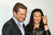 Jason Morgan and SunHee Grinnell attends Vanity Fair Campaign Hollywood Social Club - Beauty Moment: Giorgio Armani Beauty Happy Hour Toasting UNICEF on February 19, 2015 in Los Angeles, California.