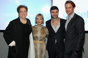 (L-R) Caryl Stern, Carol Hamilton, Alexandre Choueiri, and Jason Morgan attend Vanity Fair Campaign Hollywood Social Club - Beauty Moment: Giorgio Armani Beauty Happy Hour Toasting UNICEF on February 19, 2015 in Los Angeles, California.