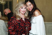 Actress Morgan Fairchild and Vanity Fair beauty director Sunhee Grinnell attend the Vanity Fair - Chanel Beauty Cocktail Event at The Peninsula Beverly Hills on November 3, 2016 in Beverly Hills, California.