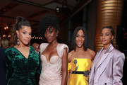 (L-R) Hailie Sahar, Angelica Ross, Mj Rodriguez and Indya Moore attend Vanity Fair and FX's annual Primetime Emmy Nominations Party on September 21, 2019 in Century City, California.