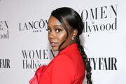 Aja Naomi King attends Vanity Fair and Lancôme Toast Women in Hollywood on February 06, 2020 in Los Angeles, California.