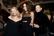 (L-R) Patricia Clarkson, Minnie Driver, and guest attend Vanity Fair and Lancôme Toast Women in Hollywood on February 06, 2020 in Los Angeles, California.