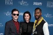 (L-R) Topher Grace, Mary Elizabeth Winstead, and Colman Domingo attend Variety 10 actors to watch and Newport Beach Film Festival Fall Honors at The Resort at Pelican Hill on November 11, 2018 in Newport Beach, California.