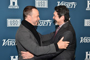 Donnie Wahlberg and Lou Diamond Phillips attend Variety's 3rd Annual Salute To Service at Cipriani 25 Broadway on November 06, 2019 in New York City.
