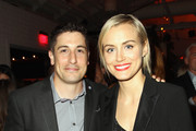 Actor Jason Biggs (L) and actress Taylor Schilling attend Variety and Women in Film Emmy Nominee Celebration powered by Samsung Galaxy on August 23, 2014 in West Hollywood, California.