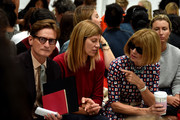(L-R) Hamish Bowles, Virginia Smith and Anna Wintour attend the Vera Wang Collection fashion show during Mercedes-Benz Fashion Week Spring 2015 on September 9, 2014 in New York City.