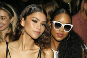 Zendaya (L) and H.E.R. at Vera Wang  front row during New York Fashion Week on September 10, 2019 in New York City.