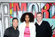 (L-R) Verizon's Up To Speed Correspondant Andy Choi, Jessica Williams, and President of Verizon Consumer Group Ronan Dunne attend Verizon's More Holiday Magic Event at Manhatta on December 05, 2019 in New York City.
