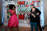 Jessica Williams, President of Verizon Consumer Group Ronan Dunne, and Verizon's Up To Speed Correspondant Andy Choi attend Verizon's More Holiday Magic Event at Manhatta on December 05, 2019 in New York City.