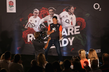 Vernon Kay England Women's Rugby World Cup Squad Announcement