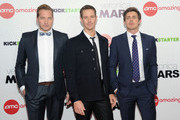"""(L-R) Actors Ryan Hansen, Jason Dohring and Chris Lowell attend the """"Veronica Mars"""" screening at AMC Loews Lincoln Square on March 10, 2014 in New York City."""