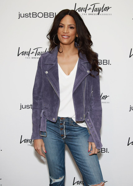 Lord & Taylor And Bobbi Brown Celebrate The Launch Of justBOBBI Concept Shop [clothing,jeans,outerwear,fashion,denim,jacket,long hair,shoulder,blazer,fashion design,bobbi brown,veronica webb,justbobbi,justbobbi concept shop,concept shop,new york city,lord taylor,launch,launch]