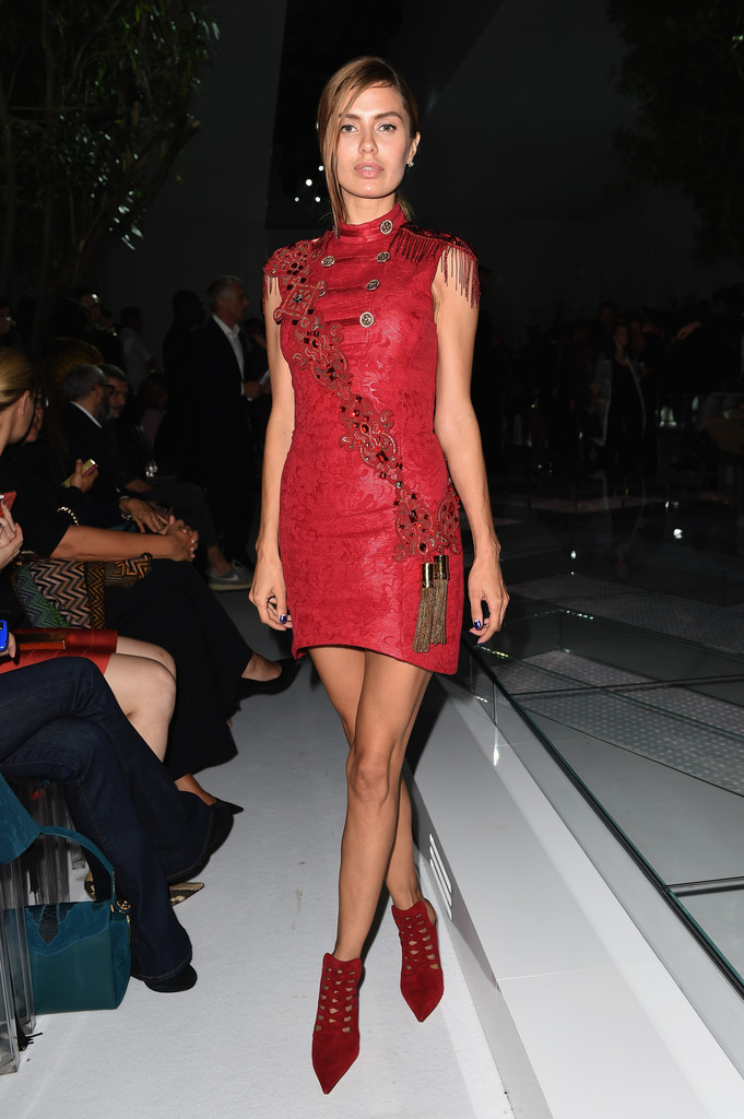 Victoria Bonya Pictures Front Row At Versace Zimbio