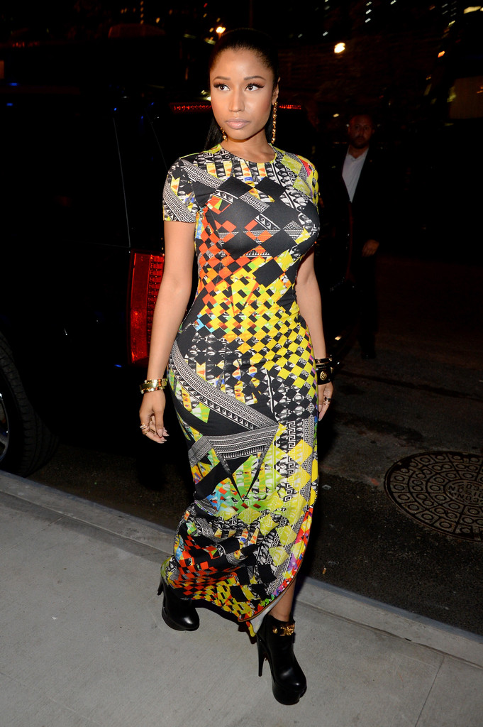 Nicki Minaj Photos Photos Versus Versace Arrivals Mercedes Benz Fashion Week Spring 2015