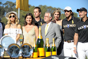 (L-R) Stylist Rachel Zoe, host Vanessa Kay, Host Nacho Figueras and Veuve Clicquot Ponsardin President Stephane Baschiera attend Veuve Clicquot Polo Classic Los Angeles at Will Rogers State Historic Park on October 9, 2011 in Los Angeles, California.