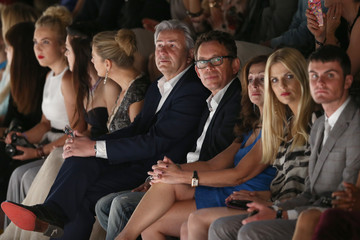 Vicky Leandros Frank Mutters MBFW: Front Row at Guido Maria Kretschmar