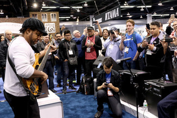 Victor Wooten 2016 NAMM Show, Day 3: Lots of Artists, Questlove, The Legends, NAMM Foundation Grand Rally For Music Education With Weird Al