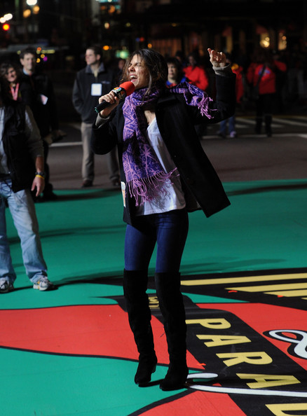 Victoria Justice Actress/singer Victoria Justice performs at the 84th Annual Macy's Thanksgiving day parade rehearsal at Macy's Herald Square on November 23, 2010 in New York City.