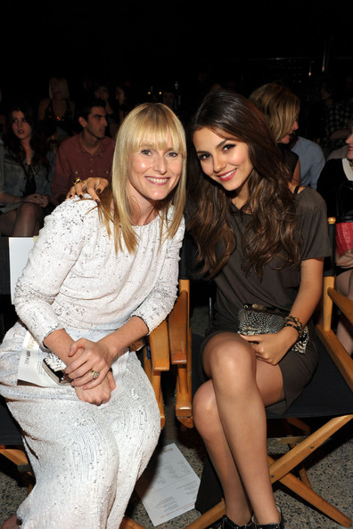 Victoria Justice Editor-in-Chief of Teen Vogue Amy Astley and actress Victoria Justice inside at The 8th Annual Teen Vogue Young Hollywood Party at Paramount Studios on October 1, 2010 in Los Angeles, California.