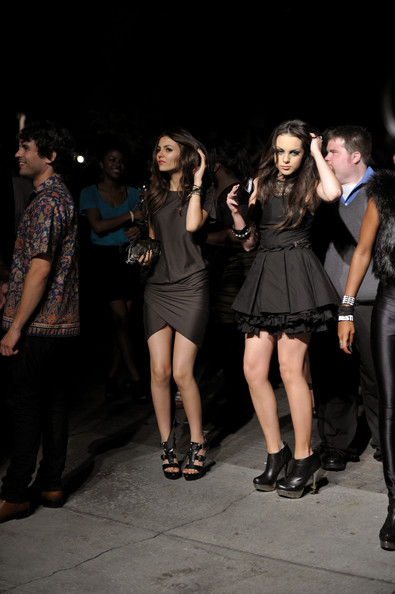 Victoria Justice Actresses Victoria Justice and Elizabeth Gillies inside at The 8th Annual Teen Vogue Young Hollywood Party at Paramount Studios on October 1, 2010 in Los Angeles, California.