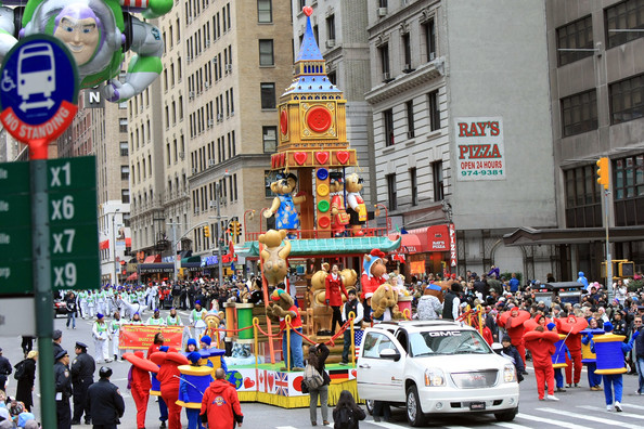 Victoria Justice Nickelodeon's Victoria Justice rides down Broadway on The Build-a-Bear Float for the 84th annual Macy's Thanksgiving Day Parade on November 25, 2010 in New York City.