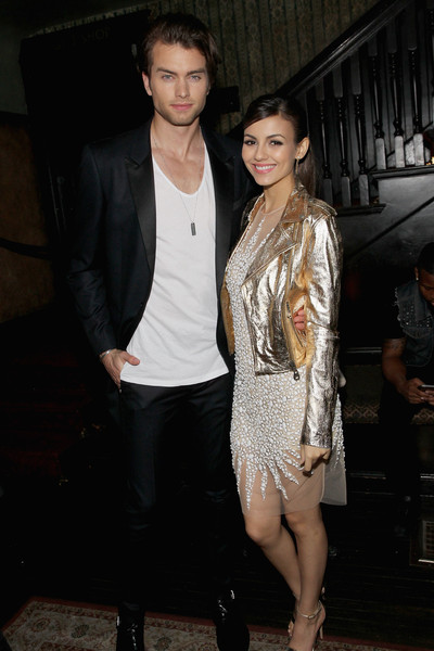 Vanity Fair Campaign Hollywood - FIAT Young Hollywood Celebration [vanity fair,clothing,fashion,outerwear,leg,cocktail dress,fashion design,leather jacket,event,dress,textile,victoria justice,pierson fode,james corden,krista smith,no vacancy,los angeles,hollywood - fiat,young hollywood celebration,celebration]