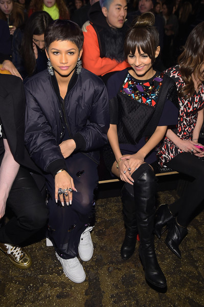 DKNY - Front Row - Mercedes-Benz Fashion Week Fall 2015 [fashion,event,thigh,victoria justice,singer zendaya,front row,new york city,dkny,mercedes-benz fashion week,fashion show]
