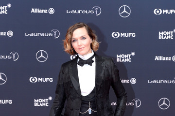 Victoria Pendleton Red Carpet - 2018 Laureus World Sports Awards - Monaco