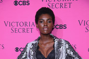 Model Amilna Estevao attends as Victoria's Secret Angels gather for an intimate viewing party of the 2017 Victoria's Secret Fashion Show at Spring Studios on November 28, 2017 in New York City.