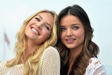 Miranda Kerr Candice Swanepoel Miranda Kerr and Candice Swanepoel Launch the 2012 VS Swim Collection