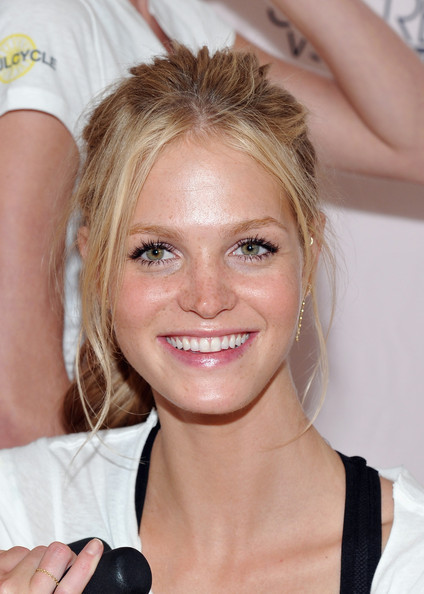 Victoria's Secret model Erin Heatherton attends the Victoria's Secret Supermodel cycle to benefit cancer at SoulCycle Tribeca on July 12, 2011 in New York City.