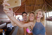 Diego Boneta, Devon Windsor and Rachel Hilbert attend  Victoria's Secret PINK Nation Spring Break Beach Party in Cancun, Mexico on March 15, 2016 in Cancun, Mexico.