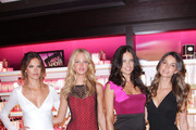 Alssandra Ambrosio, Erin Heatherton, Adriana Lima and Lily Aldridge pose during the Victoria's Secret Fashion's Night Out event at Victoria's Secret, SoHo on September 8, 2011 in New York City.