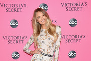 Romee Strijd attends the Victoria's Secret Viewing Party ar Spring Studios on December 2, 2018 in New York City.