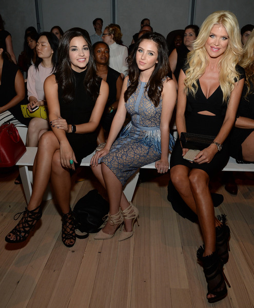 Pamella Roland Spring 2016 - Front Row [fashion,event,dress,leg,fashion model,fashion design,model,thigh,party,fashion show,victoria silvstedt,ana villafane,ryan newman,front row,l-r,new york city,the whitney museum of american art,pamella roland spring,fashion show,pamella roland spring 2016]