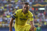 Santi Cazorla of Villarreal reacts during the UEFA Europa League Group G match between Villarreal CF and Rangers at Estadio de la Ceramica on September 20, 2018 in Villareal, Spain.